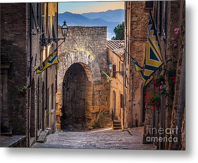 Porta Dell'arco Metal Print by Inge Johnsson