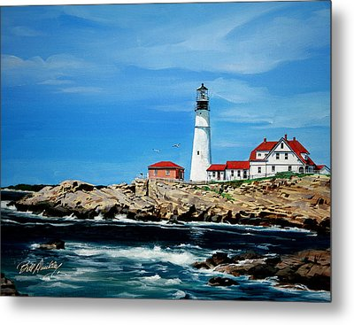 Portland Head Lighthouse Metal Print by Bill Dunkley