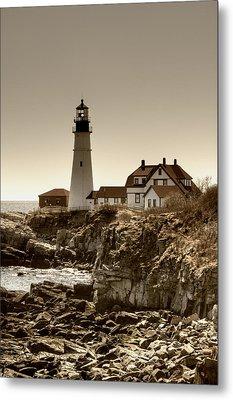 Portland Head Lighthouse Metal Print by Joann Vitali