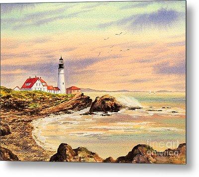 Portland Head Lighthouse Maine Metal Print by Bill Holkham
