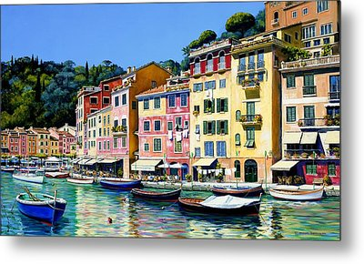 Portofino Sunshine Sold Metal Print by Michael Swanson