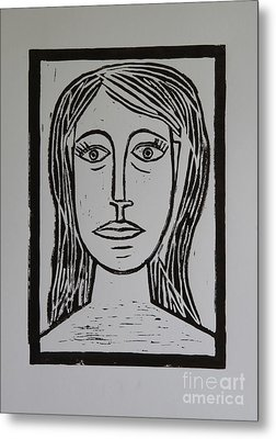 Portrait A La Picasso Metal Print by Christiane Schulze Art And Photography
