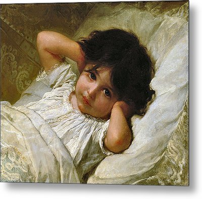 Portrait De Marie-louise  Metal Print by Emile Munier
