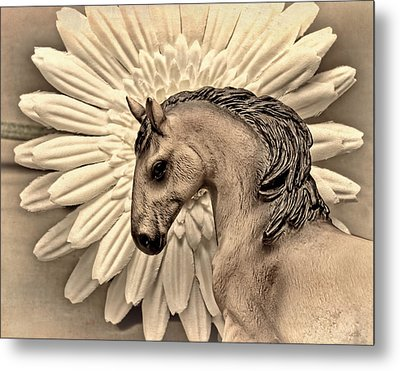 Portrait Of A Horse Metal Print by Jeff  Gettis