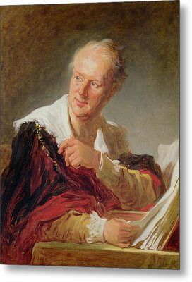 Portrait Of A Man, 1769 Metal Print by Jean-Honore Fragonard