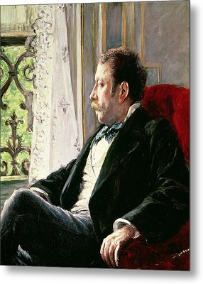 Portrait Of A Man Metal Print by Gustave Caillebotte