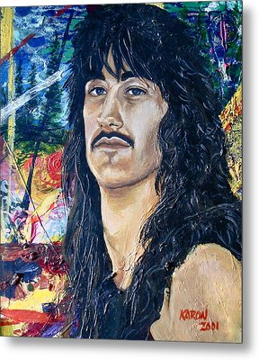 Portrait Of A Musician Metal Print by Karon Melillo DeVega