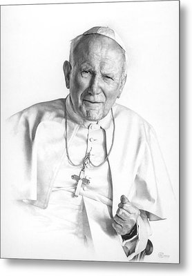 Portrait Of A Saint Metal Print by Smith Catholic Art