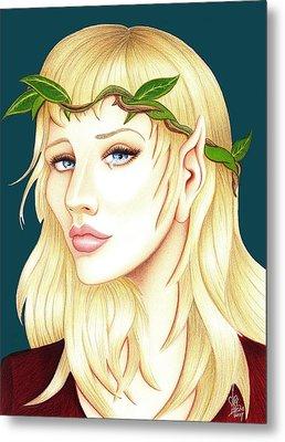 Portrait Of A She Elf Metal Print by Danielle R T Haney