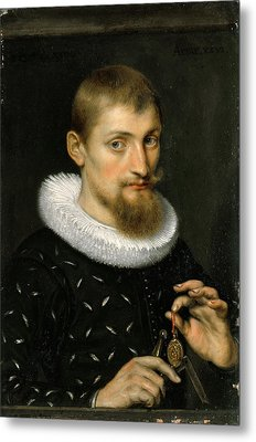Portrait Of A Young Scholar Metal Print by Peter Paul Rubens