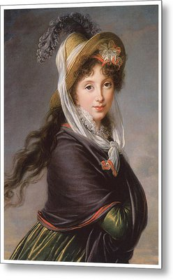 Portrait Of A Young Woman Metal Print by Marie Louise Elisabeth Vigee-Le Brun