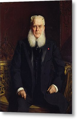 Portrait Of Alfred Chauchard 1821-1909 1896 Oil On Canvas Metal Print by Constant