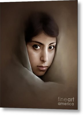 Portrait Of Ara Metal Print by Portrait Studios