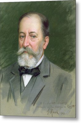 Portrait Of Camille Saint-saens Metal Print by Alberto Rossi