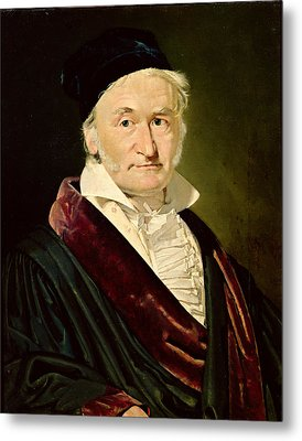 Portrait Of Carl Friedrich Gauss, 1840 Oil On Canvas Metal Print by Christian-Albrecht Jensen