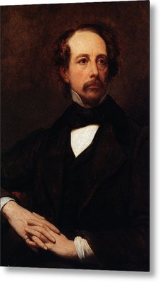 Portrait Of Charles Dickens Metal Print by Ary Scheffer
