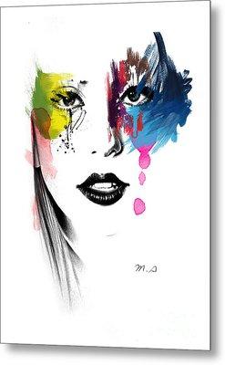 Portrait Of Colors   Metal Print by Mark Ashkenazi