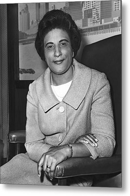 Portrait Of Constance Motley Metal Print by Fred Palumbo