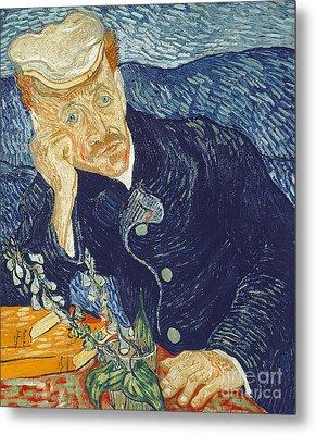 Portrait Of Dr Gachet Metal Print by Vincent Van Gogh