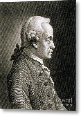 Portrait Of Emmanuel Kant Metal Print by French School