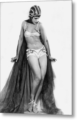Portrait Of Exotic Dancer Metal Print by Underwood Archives
