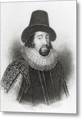 Portrait Of Francis Bacon Metal Print by English School