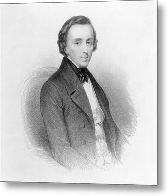 Portrait Of Frederic Chopin Metal Print by Ary Scheffer
