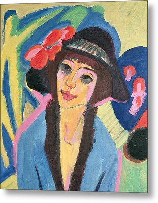 Portrait Of Gerda Metal Print by Ernst Ludwig Kirchner