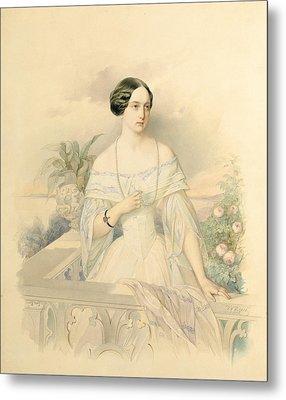 Portrait Of Grand Duchess Olga Nikolaevna Metal Print by Vladimir Ivanovich Hau