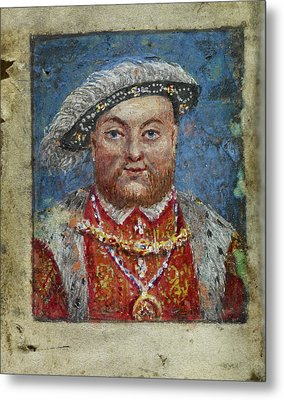 Portrait Of Henry Viii Metal Print by British Library