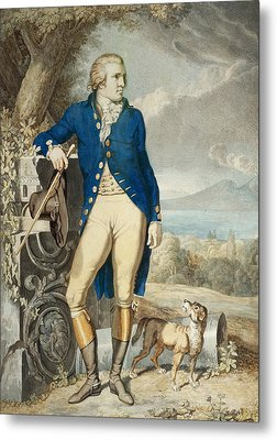 Portrait Of Johann Wolfgang Von Goethe In The Country  Metal Print by Johann Heinrich Wilhelm Tischbein