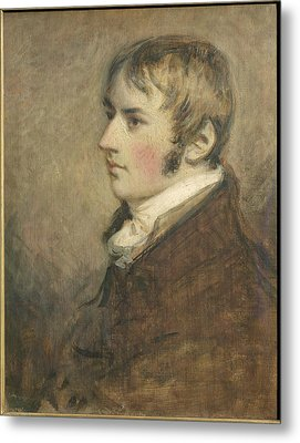 Portrait Of John Constable Aged Twenty Metal Print by Daniel Gardner