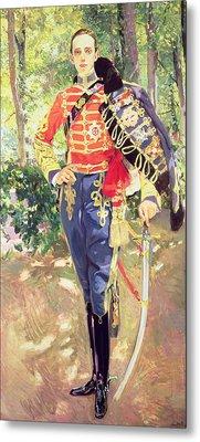 Portrait Of King Alfonso Xiii  Metal Print by Joaquin Sorolla y Bastida