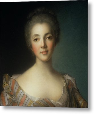 Portrait Of Madame Dupin Metal Print by Jean-Marc Nattier