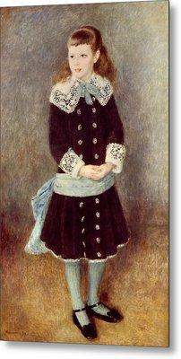 Portrait Of Martha Berard Metal Print by Pierre-Auguste Renoir