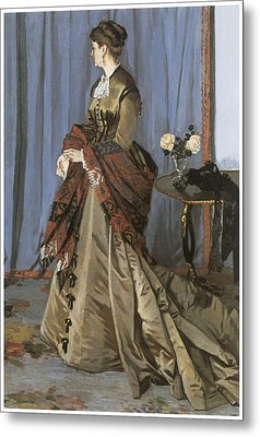Portrait Of Mrs. Gaudibert Metal Print by Claude Monet