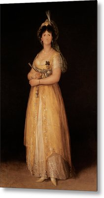 Portrait Of Queen Maria Luisa Metal Print by Goya