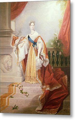 Portrait Of Queen Victoria Metal Print by Alfred-Edward Chalon