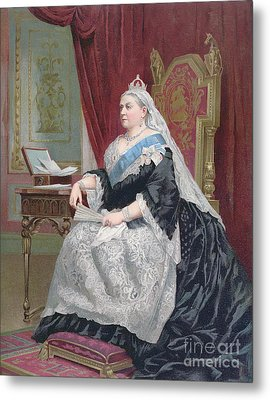 Portrait Of Queen Victoria Metal Print by English School