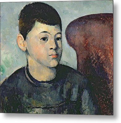 Portrait Of The Artists Son Metal Print by Paul Cezanne