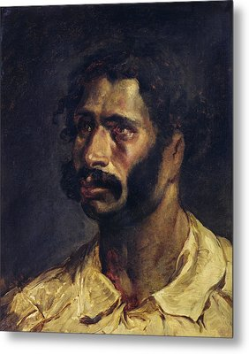 Portrait Of The Carpenter Of The Medusa, C.1812 Oil On Canvas Metal Print by Theodore Gericault