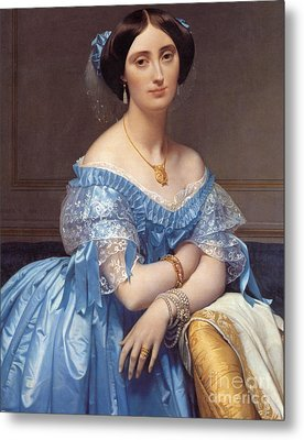 Portrait Of The Princesse De Broglie Metal Print by Jean Auguste Dominique Ingres