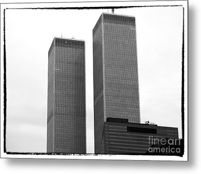 Portrait Of The Towers 1990s Metal Print by John Rizzuto