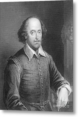 Portrait Of William Shakespeare Metal Print by English School