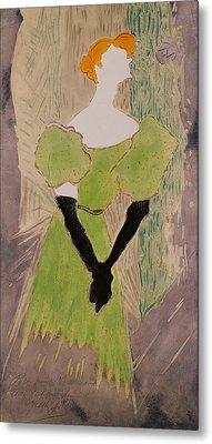 Portrait Of Yvette Guilbert Metal Print by Henri de Toulouse-Lautrec