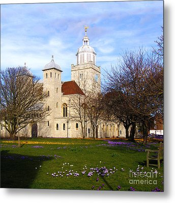 Portsmouth Cathedral At Springtime Metal Print by Terri Waters