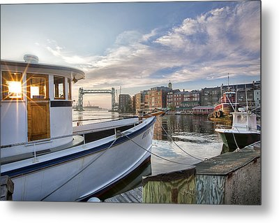 Portsmouth Harbor Sunrise Metal Print by Eric Gendron