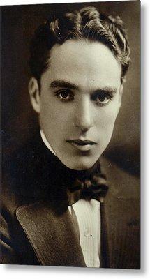Postcard Of Charlie Chaplin Metal Print by American Photographer