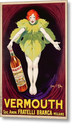 Poster Advertising Fratelli Branca Vermouth Metal Print by Jean DYlen