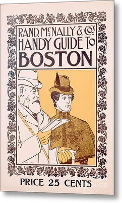 Poster Advertising Rand Mcnally And Co's Hand Guide To Boston Metal Print by American School